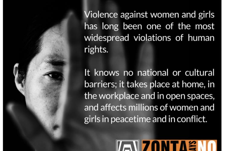 Zonta Says NO! - gegen Gewalt an Frauen und Mädchen